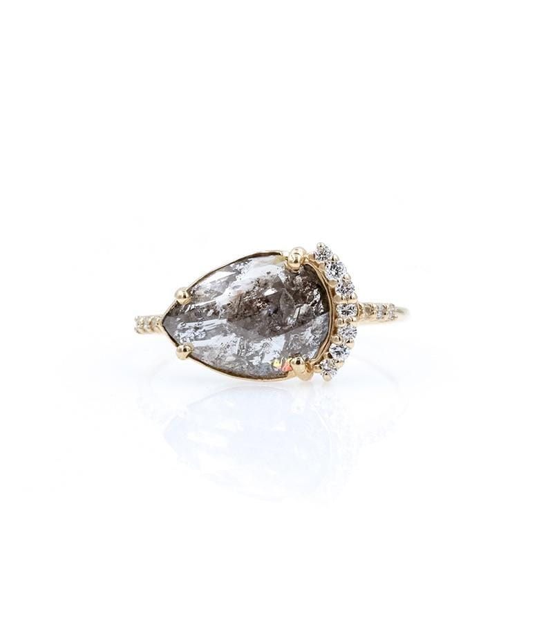 Enchanted Rustic East-West Diamond Ring