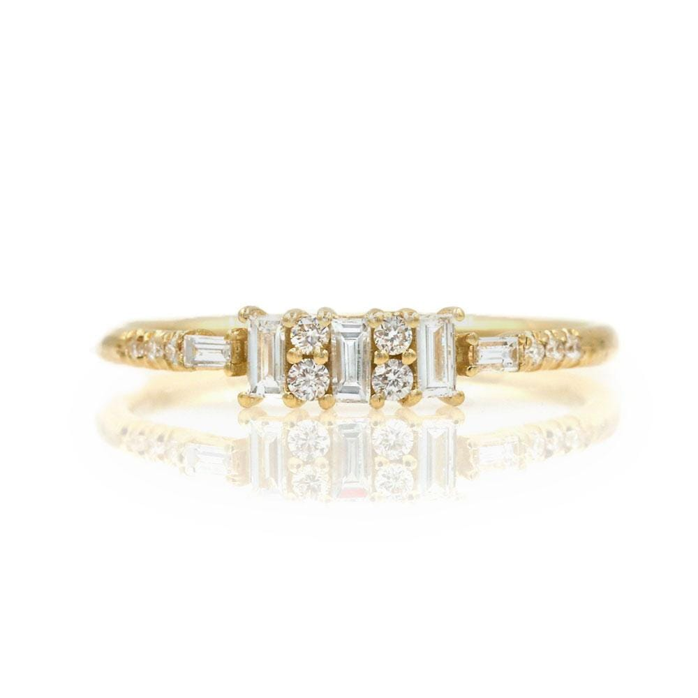 Baguette Diamond Channel Ring - LoveAudryRose.com