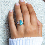 Boulder Opal Tanzanite Duo Ring