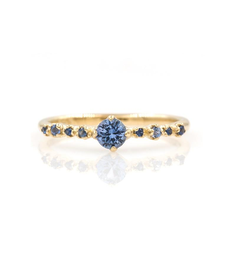 Prong Set Blue Sapphire Garland Ring - LoveAudryRose.com