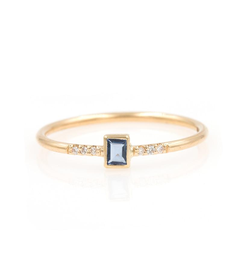 Sapphire Baguette Ring