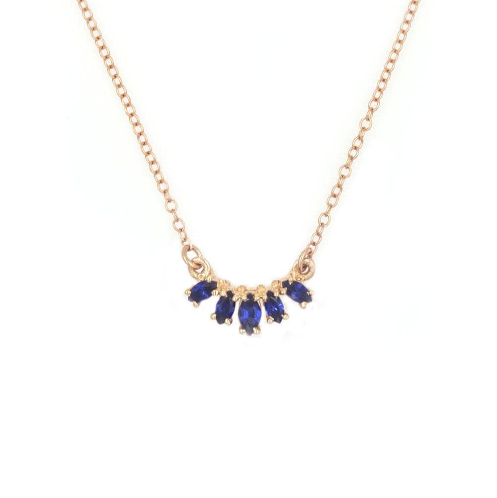 Marquise Sapphire arch Necklace