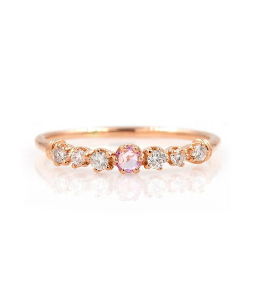 Pink Sapphire Twinkle Ring - LoveAudryRose.com