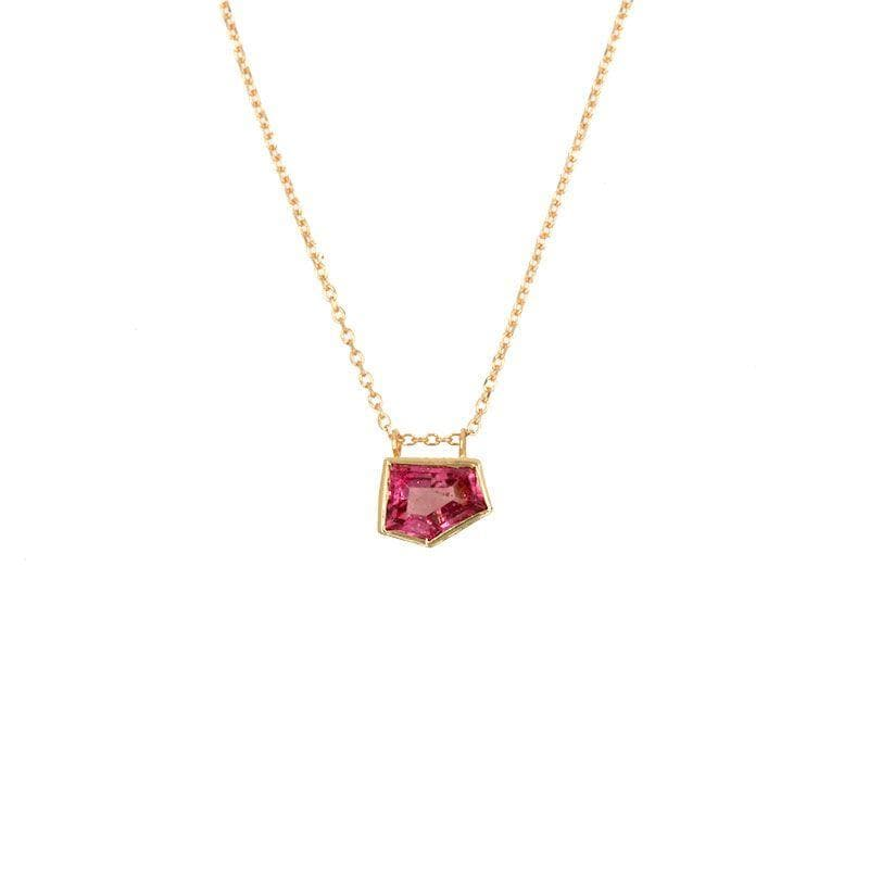 Tourmaline Pentagon Necklace