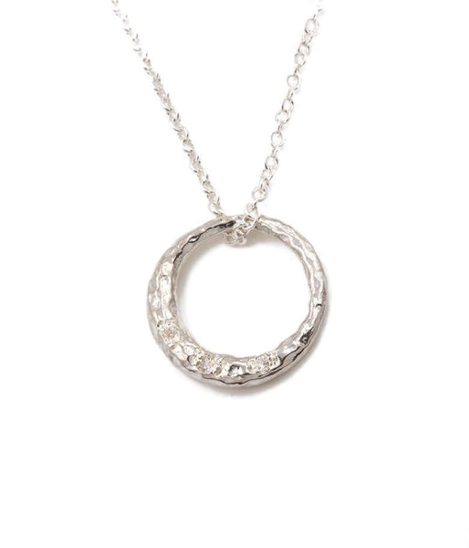 Crescent Moon Circle Necklace - LoveAudryRose.com