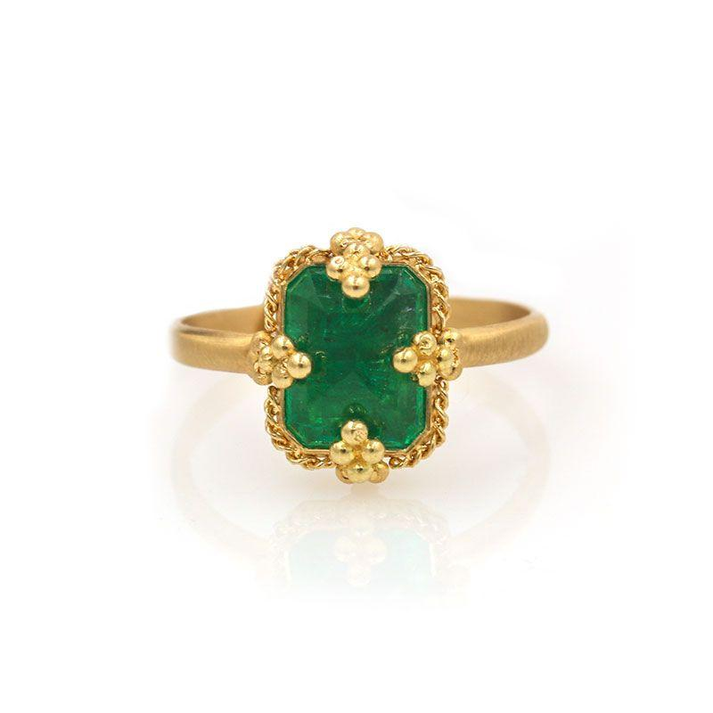Inverted Emerald Ring - LoveAudryRose.com