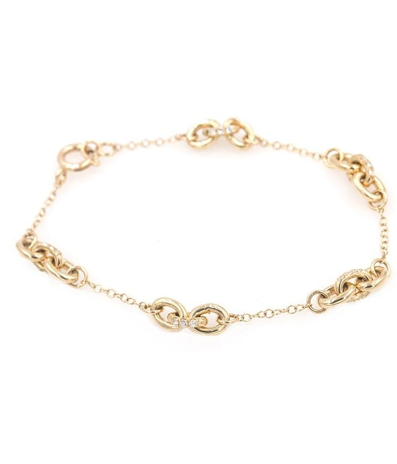 Chain Diamond Loop  Bracelet