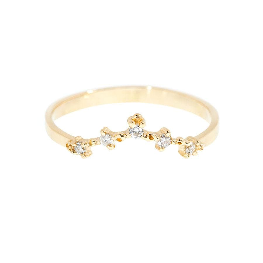 Cluster Diamond V Ring