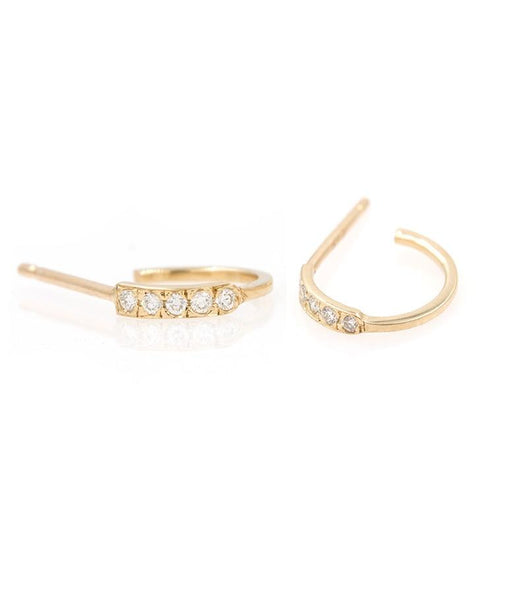 Salo Diamond Hoops - LoveAudryRose.com