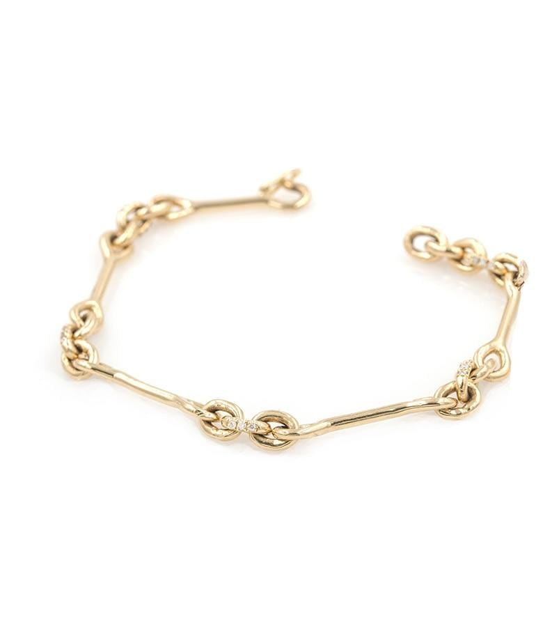 18k Golden Diamond Loop Bracelet