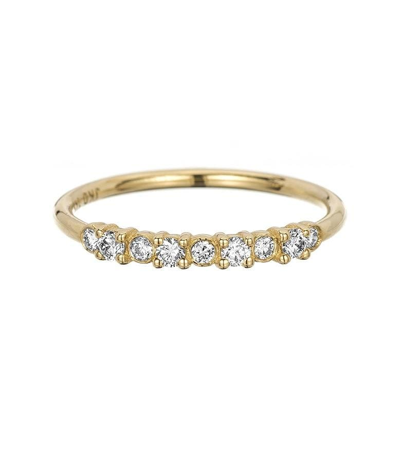 Bezel and Prong Set Diamond Band - LoveAudryRose.com