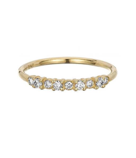 Bezel and Prong Set Diamond Band*** - LoveAudryRose.com