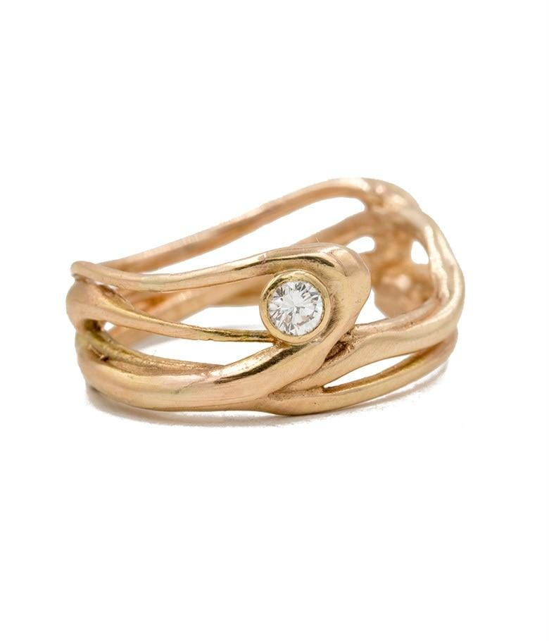 Golden Spun Diamond Band