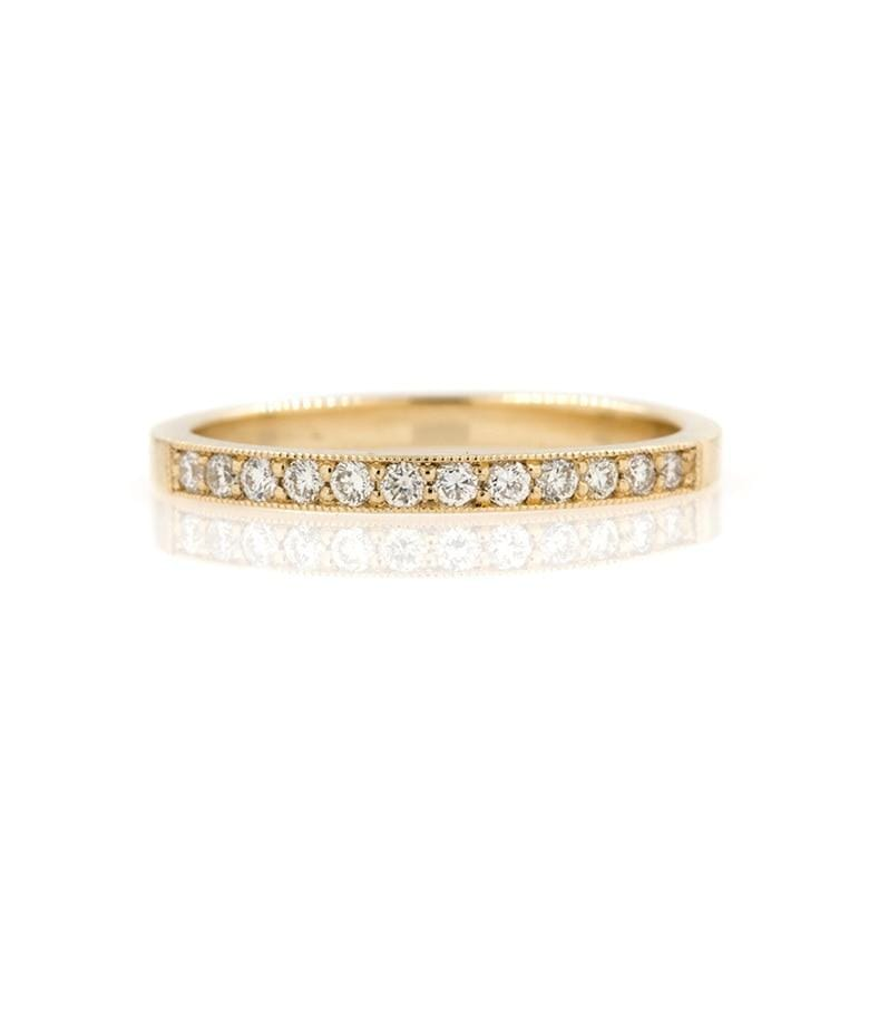 Milgrain Diamond Band