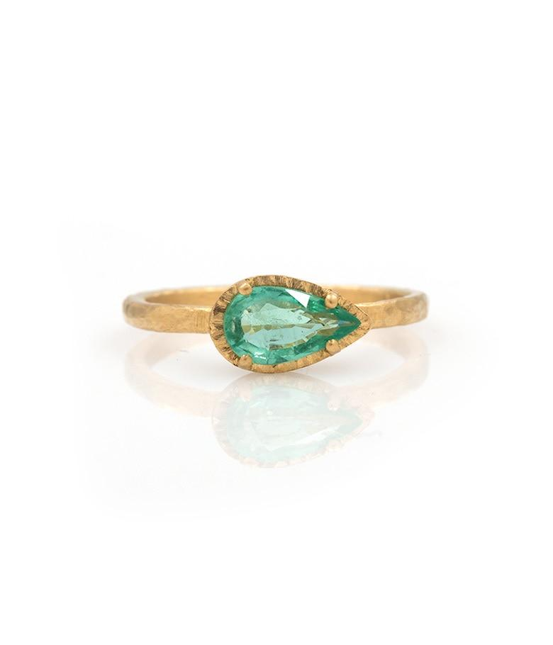 18k Sideways Paraiba Ring