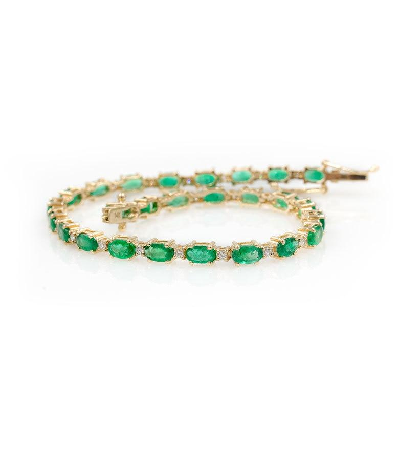 Emerald Diamond Tennis Bracelet - LoveAudryRose.com