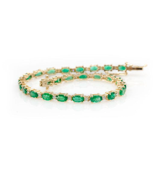 Emerald Diamond Tennis Bracelet