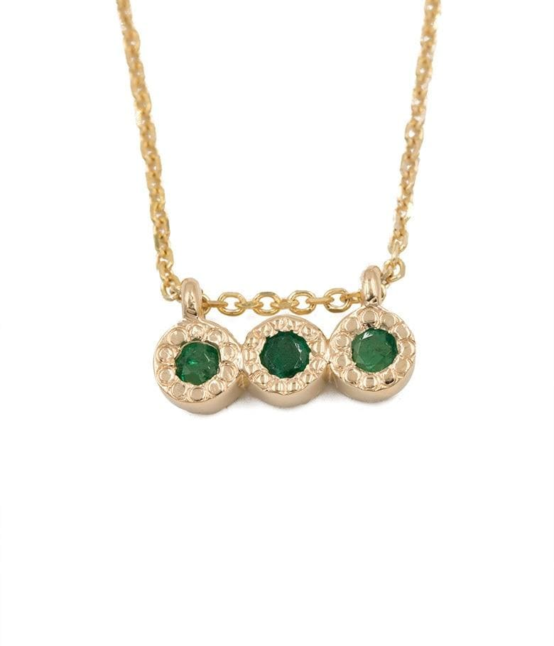 Emerald Triplet Necklace - LoveAudryRose.com