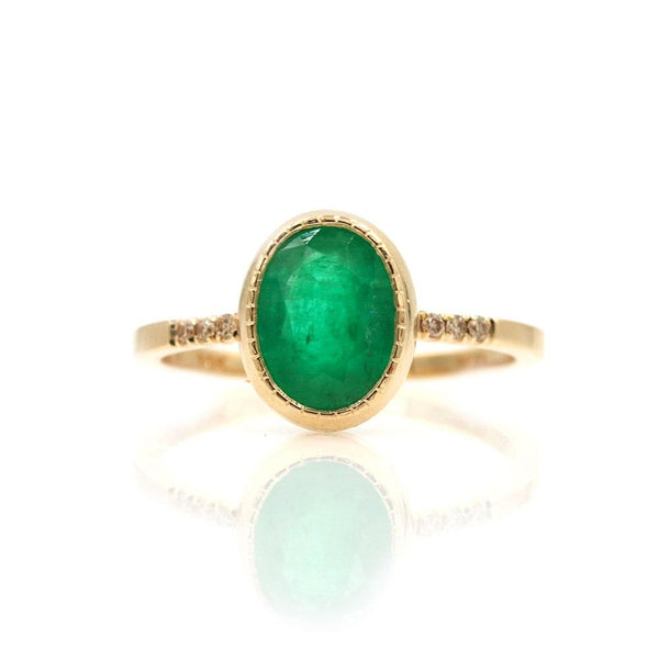 Oval Emerald Ring - LoveAudryRose.com
