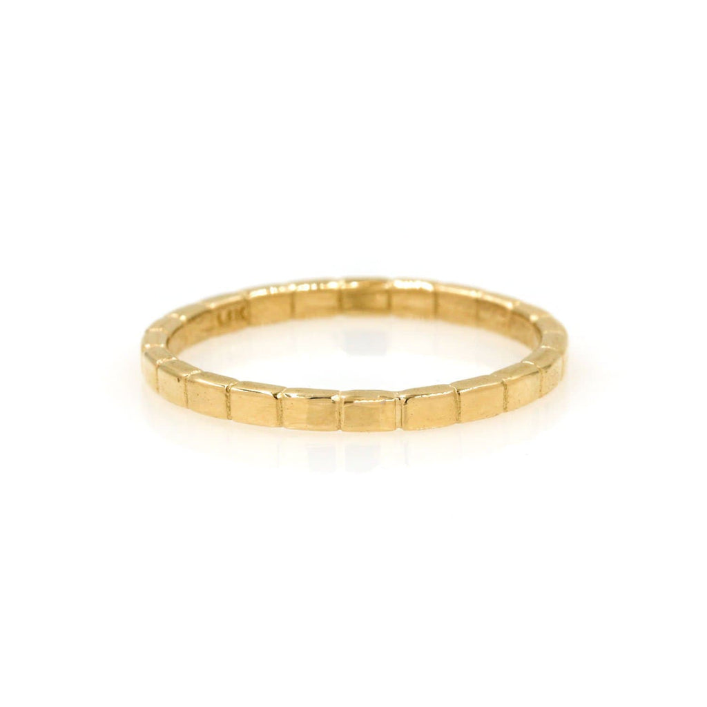 Etched Gold Eternity Band