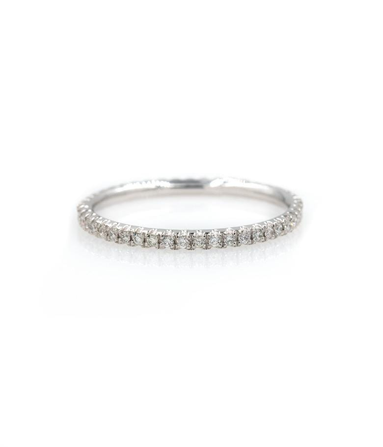 White Gold Diamond Eternity Band - LoveAudryRose.com