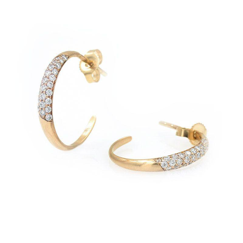 Pave Diamond Hoops*** - LoveAudryRose.com