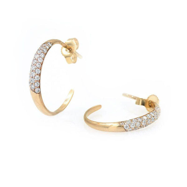 Pave Diamond Hoops - LoveAudryRose.com