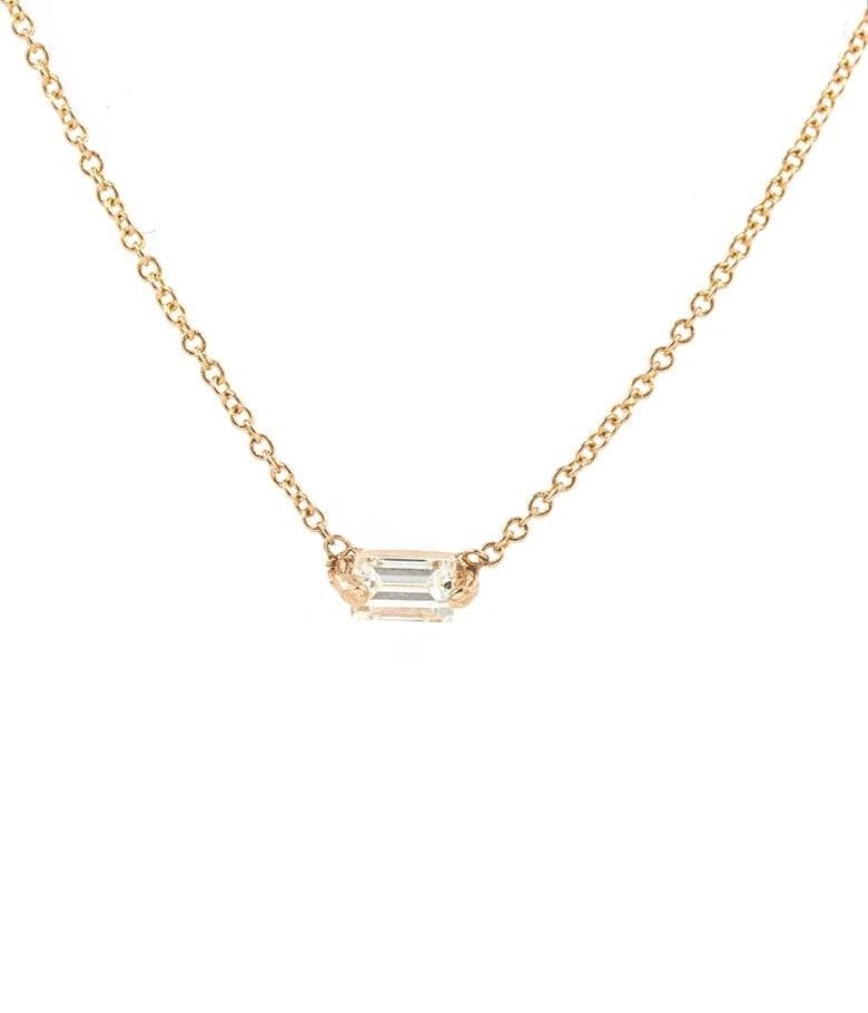 Floating Baguette Diamond Necklace