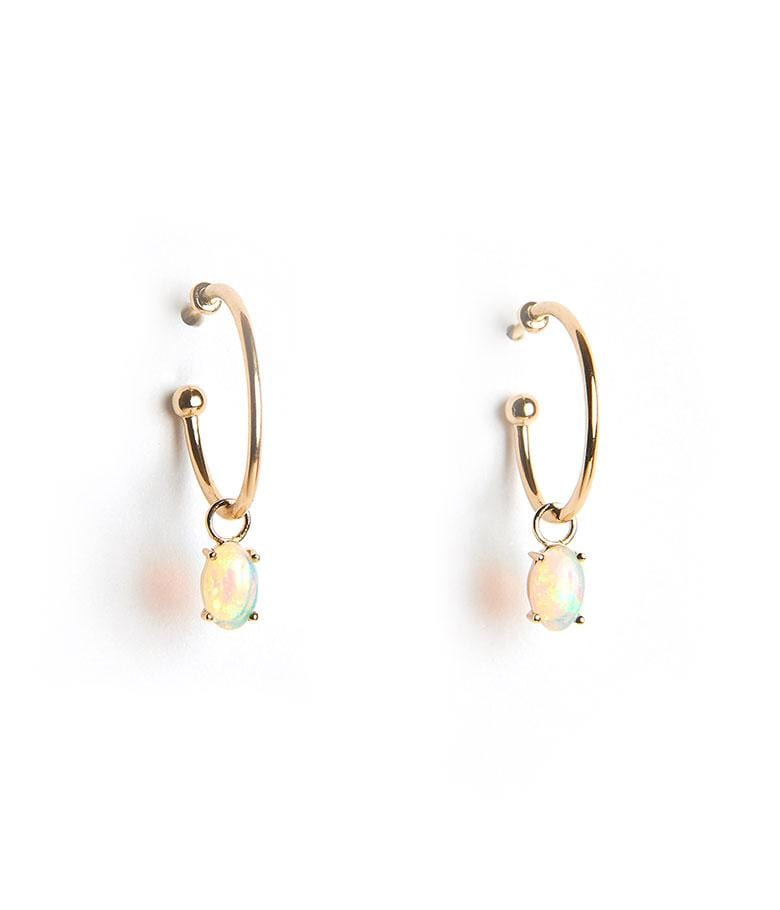 Floating Opal Hoops - LoveAudryRose.com