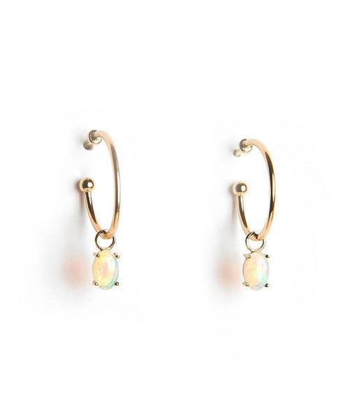 Floating Opal Hoops