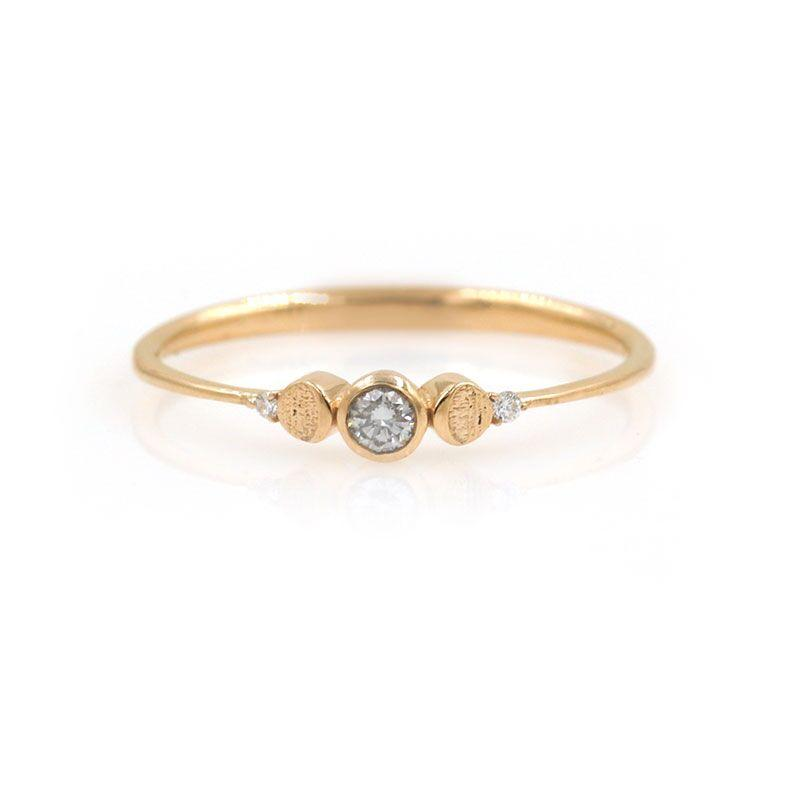 Baby Diamond Lunar Ring - LoveAudryRose.com