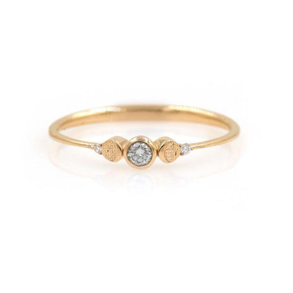 Baby Diamond Lunar Ring