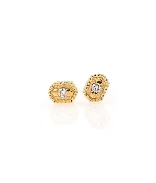 18k Golden Cluster Diamond Studs - LoveAudryRose.com
