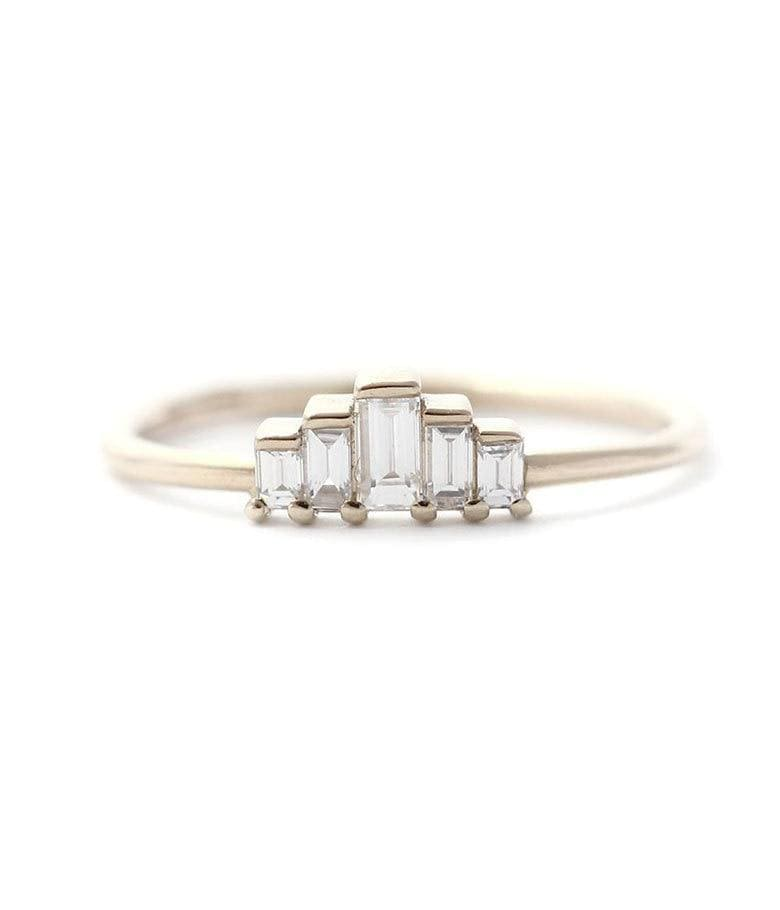 Gradient Baguette Diamond Ring