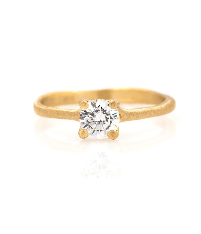18k Prong Set .5ct Diamond Ring - LoveAudryRose.com