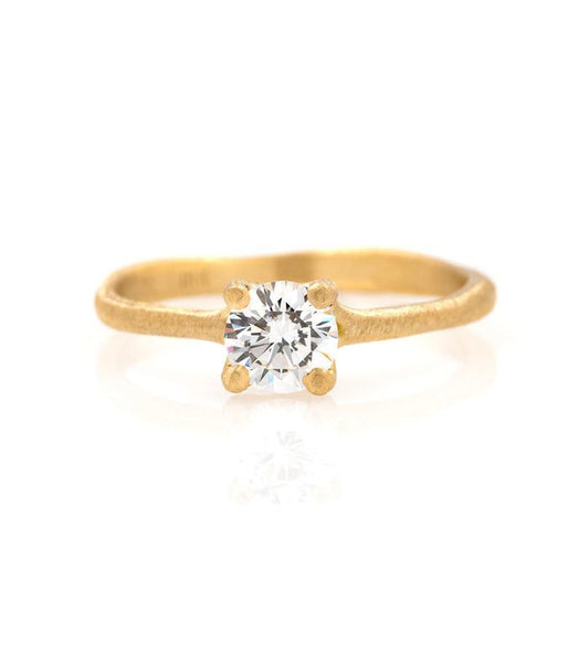 18k Prong Set .5 Carat Diamond Ring