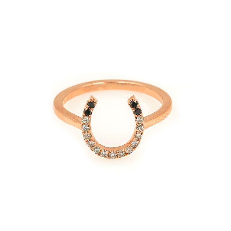 Mini Horseshoe Diamond Ring
