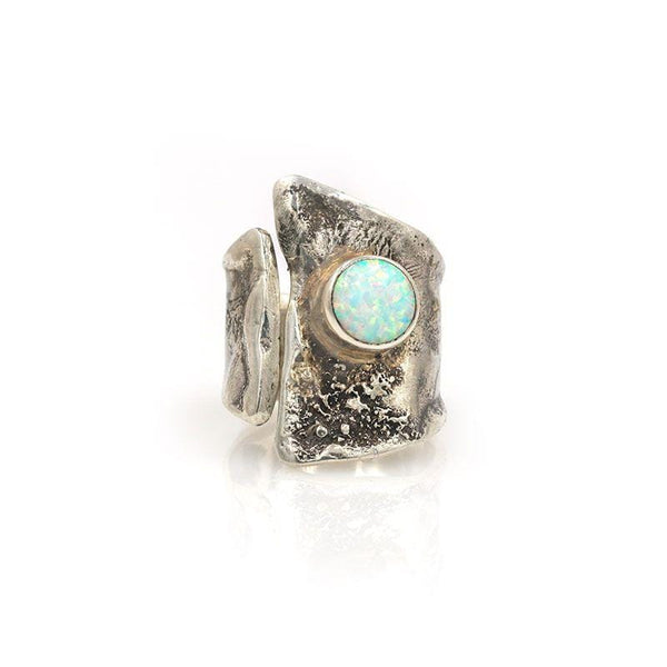 Textured Opal Statement Ring - LoveAudryRose.com