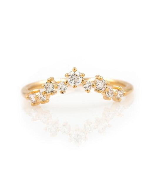 Large Diamond Cluster Arch Ring - LoveAudryRose.com