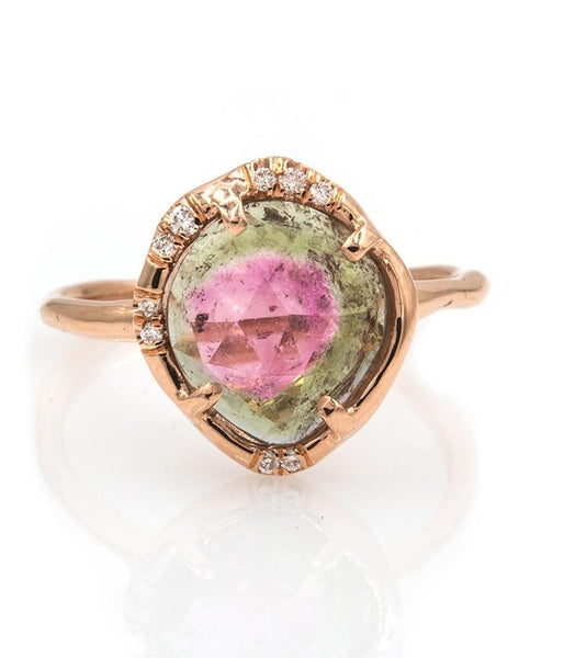 Watermelon Tourmaline Ring - LoveAudryRose.com