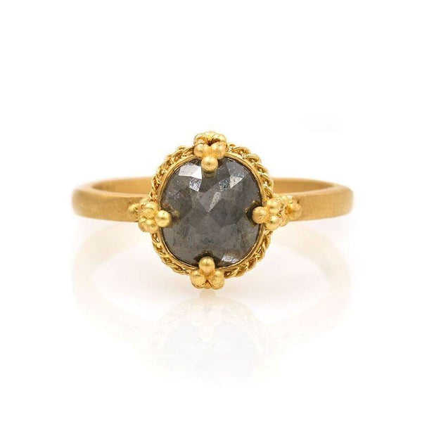 Grey Diamond Mirror Ring - LoveAudryRose.com