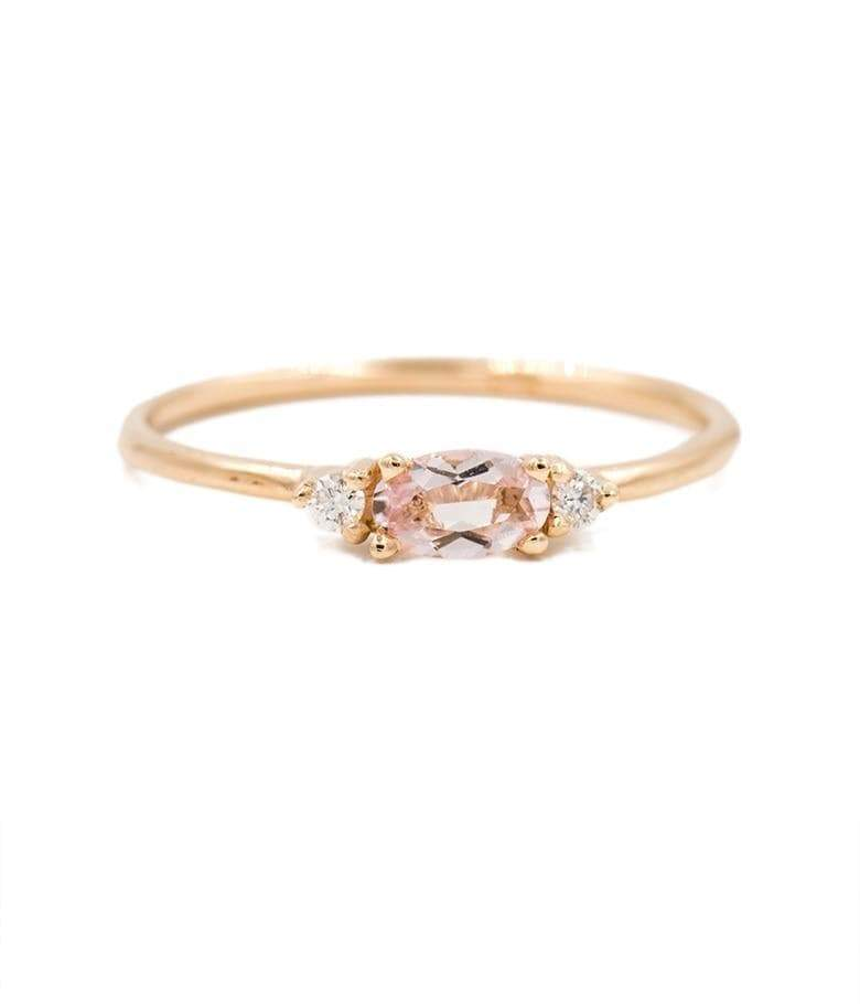 Morganite with Side Diamonds Ring* - LoveAudryRose.com