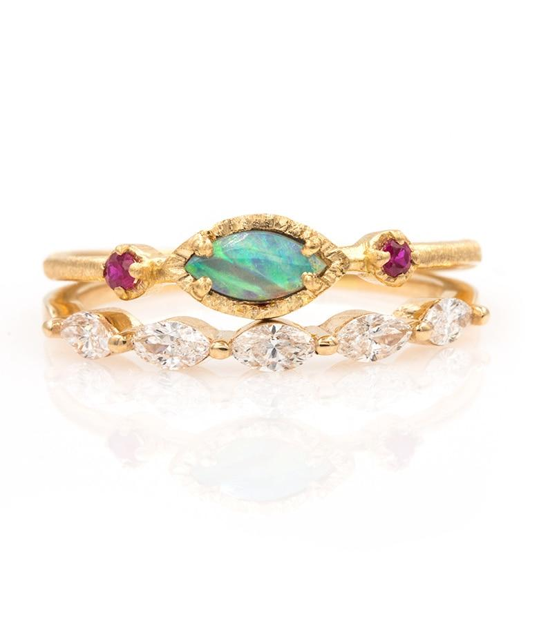 Marquise Opal Diamonds Stack