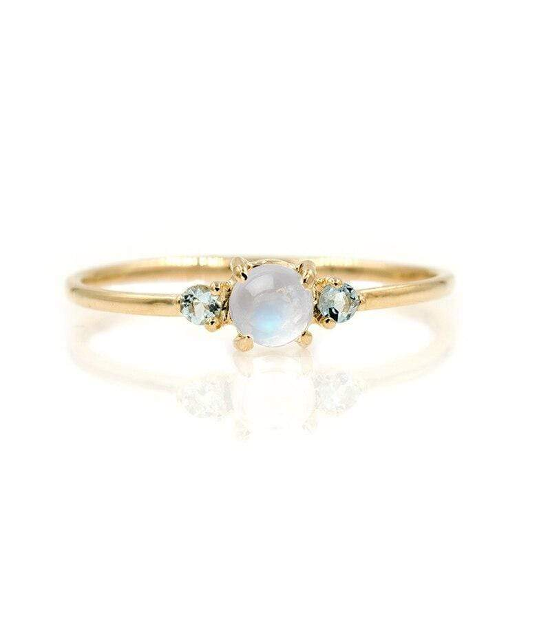 Moonstone Aquamarine Trio Ring*** - LoveAudryRose.com