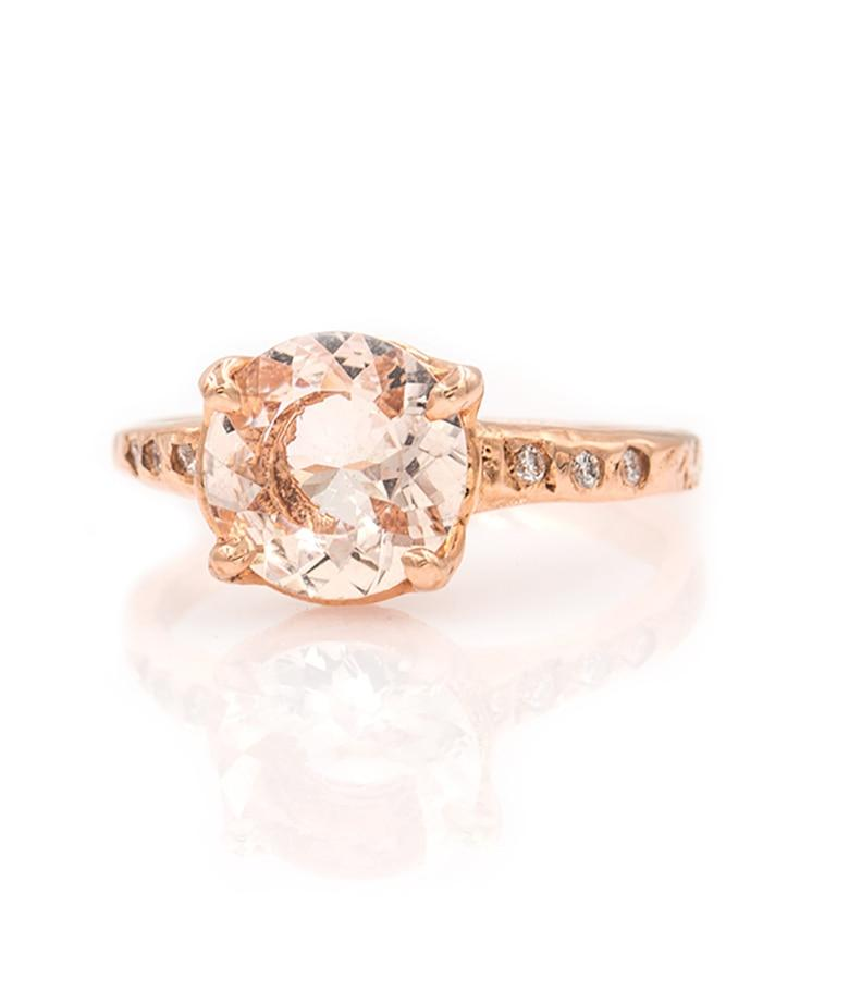 Morganite Solitaire Ring
