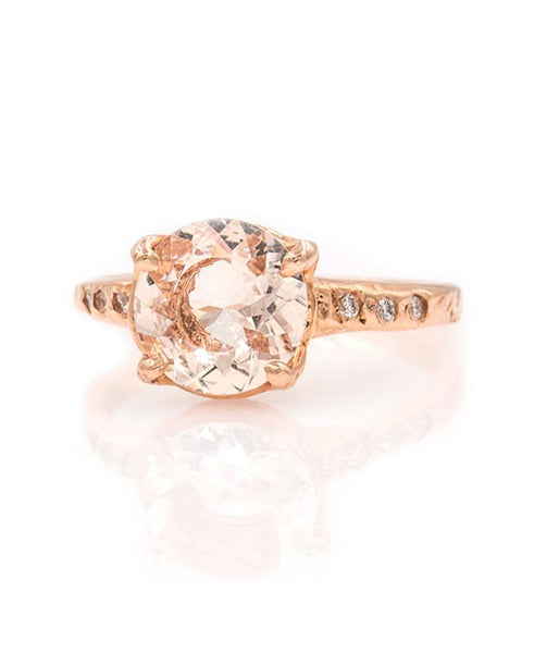Morganite Solitaire Ring - LoveAudryRose.com