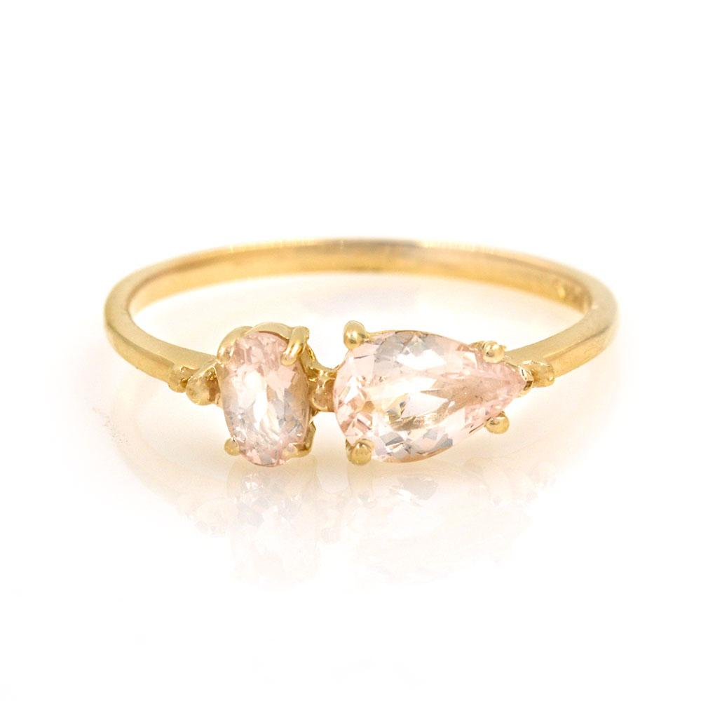 Morganite Echo Ring