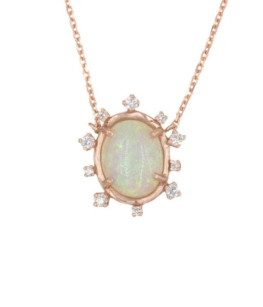 Snowflake Opal Necklace - LoveAudryRose.com
