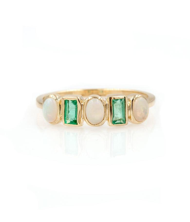 Rhythm Opal Emerald Band