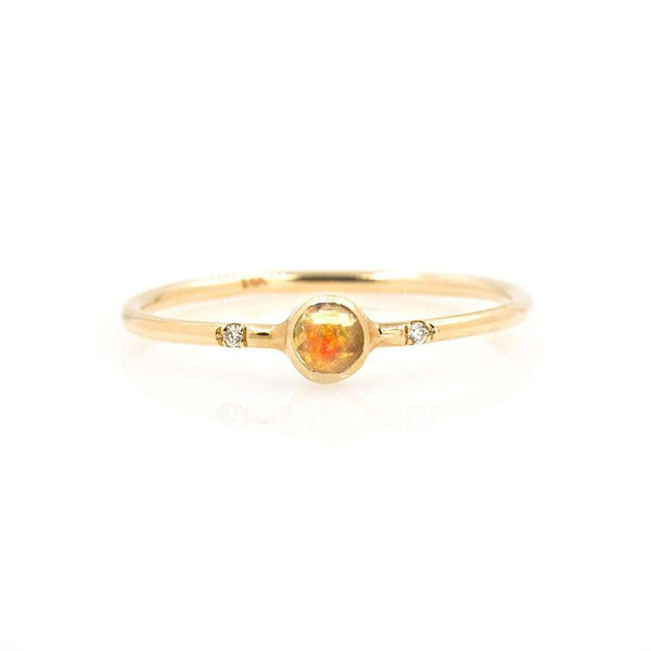 Gemstone Bezel Ring* - LoveAudryRose.com